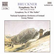 Anton Bruckner (1824-1896): Symphonien Nr.0 & 8, 2 CDs
