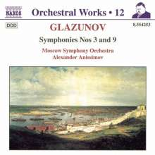 Alexander Glasunow (1865-1936): Symphonien Nr.3 & 9, CD