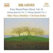 Johannes Brahms (1833-1897): Klaviermusik zu 4 Händen Vol.11, CD