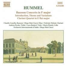 Johann Nepomuk Hummel (1778-1837): Fagottkonzert F-dur, CD