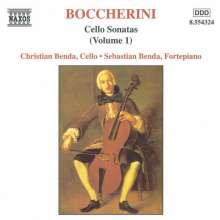 Luigi Boccherini (1743-1805): Sonaten f.Cello & Bc Vol.1, CD