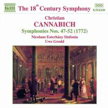 Johann Christian Cannabich (1731-1798): Symphonien Nr.47-52, CD
