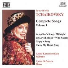 Peter Iljitsch Tschaikowsky (1840-1893): Sämtliche Lieder Vol.1, CD