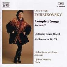 Peter Iljitsch Tschaikowsky (1840-1893): Sämtliche Lieder Vol.2, CD
