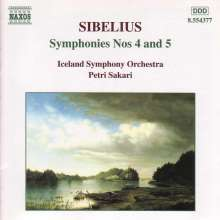 Jean Sibelius (1865-1957): Symphonien Nr.4 & 5, CD