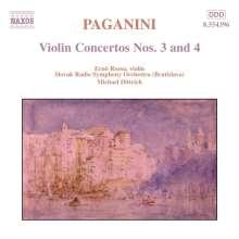 Niccolo Paganini (1782-1840): Violinkonzerte Nr.3 & 4, CD
