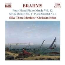 Johannes Brahms (1833-1897): Klaviermusik zu 4 Händen Vol.12, CD