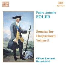 Antonio Soler (1729-1783): Sämtliche Cembalosonaten Vol.5, CD