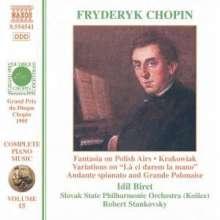Frederic Chopin (1810-1849): Werke für Klavier & Orchester, CD
