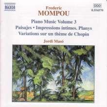 Federico Mompou (1893-1987): Klavierwerke Vol.3, CD