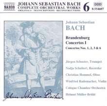 Johann Sebastian Bach (1685-1750): Brandenburgische Konzerte Nr.1-3,6, CD