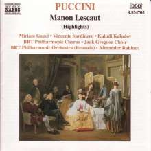 Giacomo Puccini (1858-1924): Manon Lescaut (Ausz.), CD