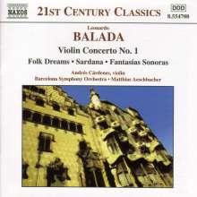 Leonardo Balada (geb. 1933): Violinkonzert Nr.1, CD