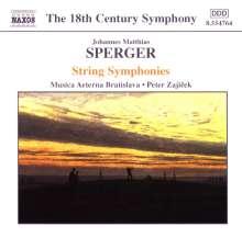 Johannes Matthias Sperger (1750-1812): Streichersymphonien Nr.2 C-Dur, Nr.3 F-Dur, Nr.6 B-Dur, CD