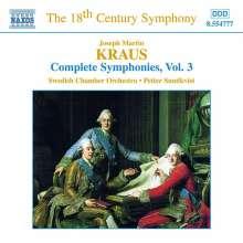 Josef Martin Kraus (1756-1792): Symphonien cis-moll,c-moll,e-moll, CD