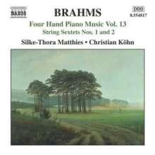 Johannes Brahms (1833-1897): Klaviermusik zu 4 Händen Vol.13, CD