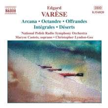 Edgar Varese (1885-1965): Orchesterwerke Vol.1, CD