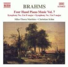 Johannes Brahms (1833-1897): Klaviermusik zu 4 Händen Vol.7, CD