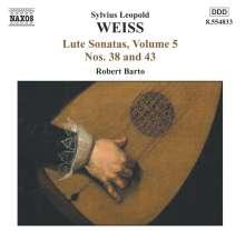 Silvius Leopold Weiss (1687-1750): Lautensonaten Vol.5, CD