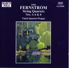 John Fernström (1897-1961): Streichquartette Nr.3,6,8, CD