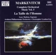 Igor Markevitch (1912-1983): Orchesterwerke Vol.5, CD