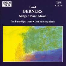 Gerald Hugh Tyrwhitt-Wilson Lord Berners (1883-1950): Complete Piano and Vocal Works, CD