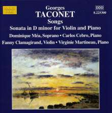 Georges Taconet (1889-1962): Lieder, CD