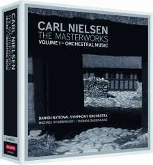 Carl Nielsen (1865-1931): Carl Nielsen - Masterworks 1: Orchestermusik, 4 CDs und 1 DVD