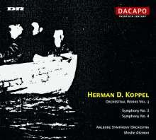 Herman Koppel (1908-1998): Symphonien Nr.3 & 4, CD