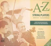 A-Z of String Players (4CDs & Buch), 4 CDs