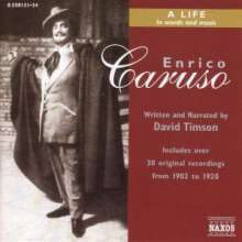 A Life in Words & Music - Enrico Caruso, 4 CDs