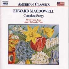 Edward MacDowell (1860-1908): Sämtliche Lieder, CD