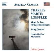 Charles Martin Loeffler (1861-1935): Streichquartett in a-moll, CD