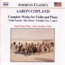Aaron Copland (1900-1990): Werke für Violine & Klavier, CD