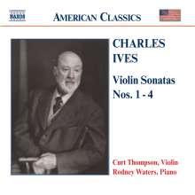Charles Ives (1874-1954): Sonaten für Violine & Klavier Nr.1-4, CD