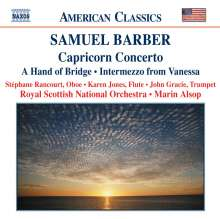 Samuel Barber (1910-1981): Capricorn Concerto für Trompete,Oboe,Flöte & Orchester, CD