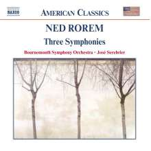 Ned Rorem (geb. 1923): Symphonien Nr.1-3, CD