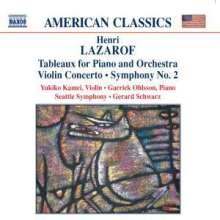 Henri Lazaroff (geb. 1932): Symphonie Nr.2, CD