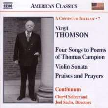 Virgil Thomson (1896-1989): Sonate für Violine & Klavier, CD