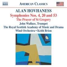 Alan Hovhaness (1911-2000): Symphonien Nr.4,20,53, CD