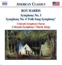 Roy Harris (1898-1979): Symphonien Nr.3 & 4, CD