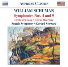 William Schuman (1910-1992): Symphonien Nr.4 & 9, CD