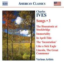 Charles Ives (1874-1954): Lieder Vol.3, CD