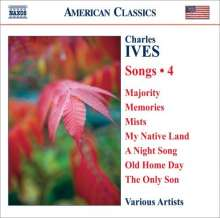 Charles Ives (1874-1954): Lieder Vol.4, CD