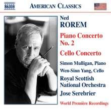 Ned Rorem (geb. 1923): Klavierkonzert Nr.2, CD