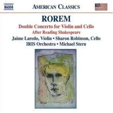 Ned Rorem (geb. 1923): Konzert für Violine, Cello & Orchester, CD