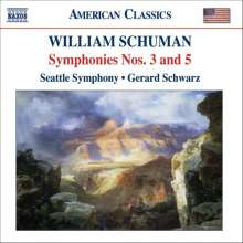 William Schuman (1910-1992): Symphonien Nr.3 & 5, CD