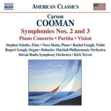 Carson Cooman (geb. 1982): Symphonien Nr.2 & 3, CD