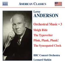 Leroy Anderson (1908-1975): Orchestermusik Vol.3, CD