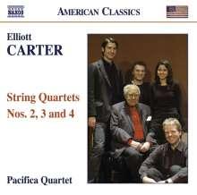 Elliott Carter (1908-2012): Streichquartette Nr.2,3,4, CD